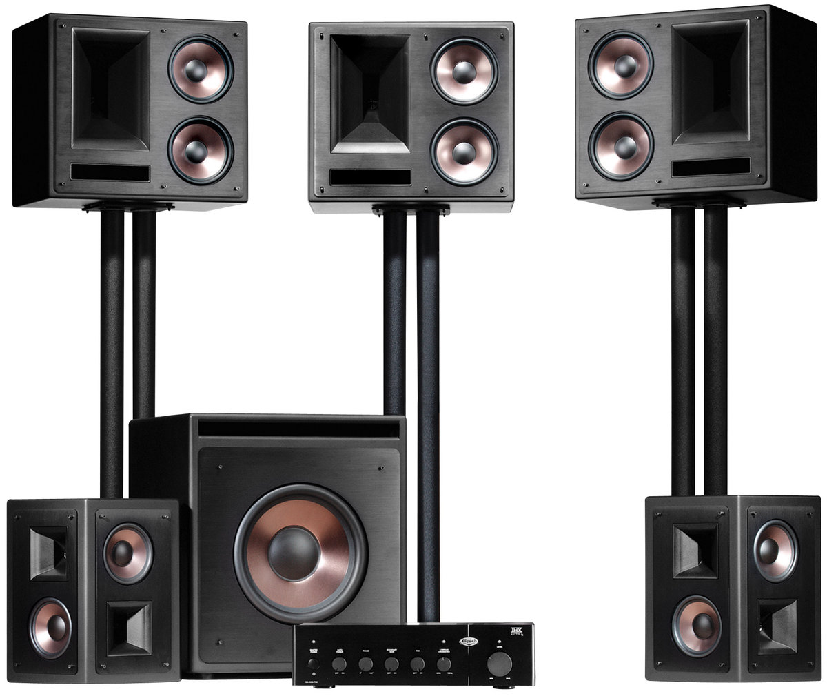 klipsch thx ultra 2 system packs d 39 enceintes son vid. Black Bedroom Furniture Sets. Home Design Ideas