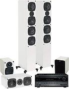 TX-SR707 Noir + Evo E45 System blanc laqué