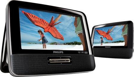 Lecteur DVD portable double écran Philips