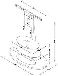 Ateca ellipse meubles avec support son vid for Meuble tv ellipse 00381