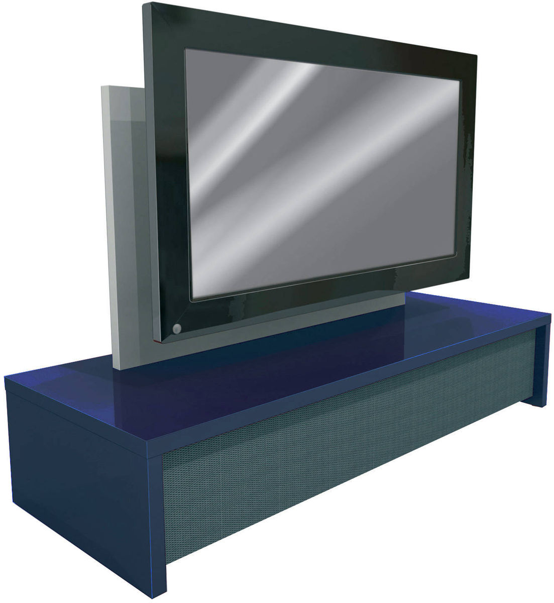 Table television ecran plat for Meuble tv plat