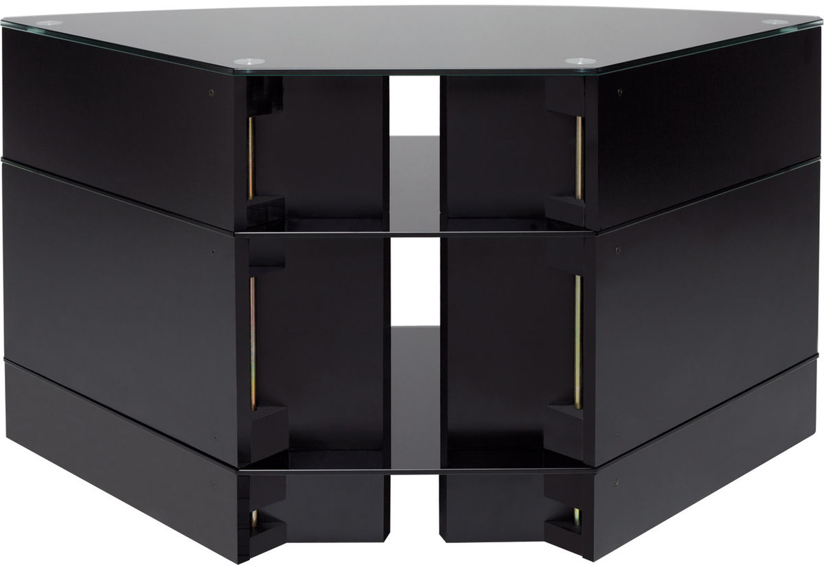meuble tv d angle noir laqu. Black Bedroom Furniture Sets. Home Design Ideas