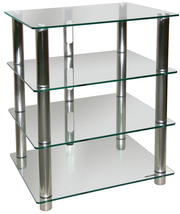 Table hifi verre for Meuble tv et hifi