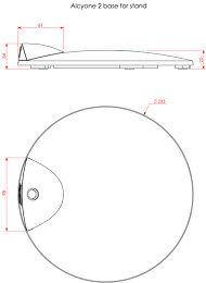 Cabasse Stand Alcyone Vue schéma dimensions
