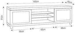Elmob Large 160-01 Vue schéma dimensions