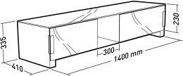 Erard Bilt 1400 Vue schéma dimensions