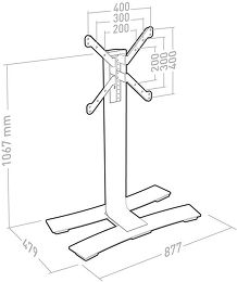 Erard Will 1050 L Vue schéma dimensions