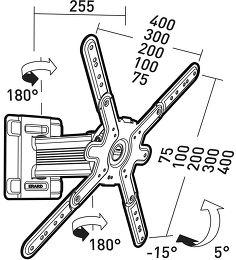 Erard Cliff 400TW45 Vue schéma dimensions