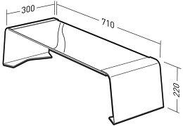 Erard Banc 600 Standit Vue schéma dimensions