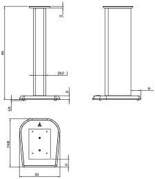 Focal Chorus S700 Vue schéma dimensions