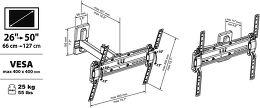 Meliconi kit 920009 Vue schéma dimensions