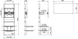 Meliconi Ghost Design 3000 R Vue schéma dimensions
