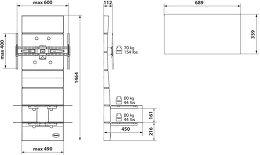Meliconi Ghost Design 3000 Vue schéma dimensions