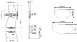 Meliconi Ghost Design 2000 Vue schéma dimensions
