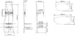 Meliconi Ghost Design 2000 DR Vue schéma dimensions