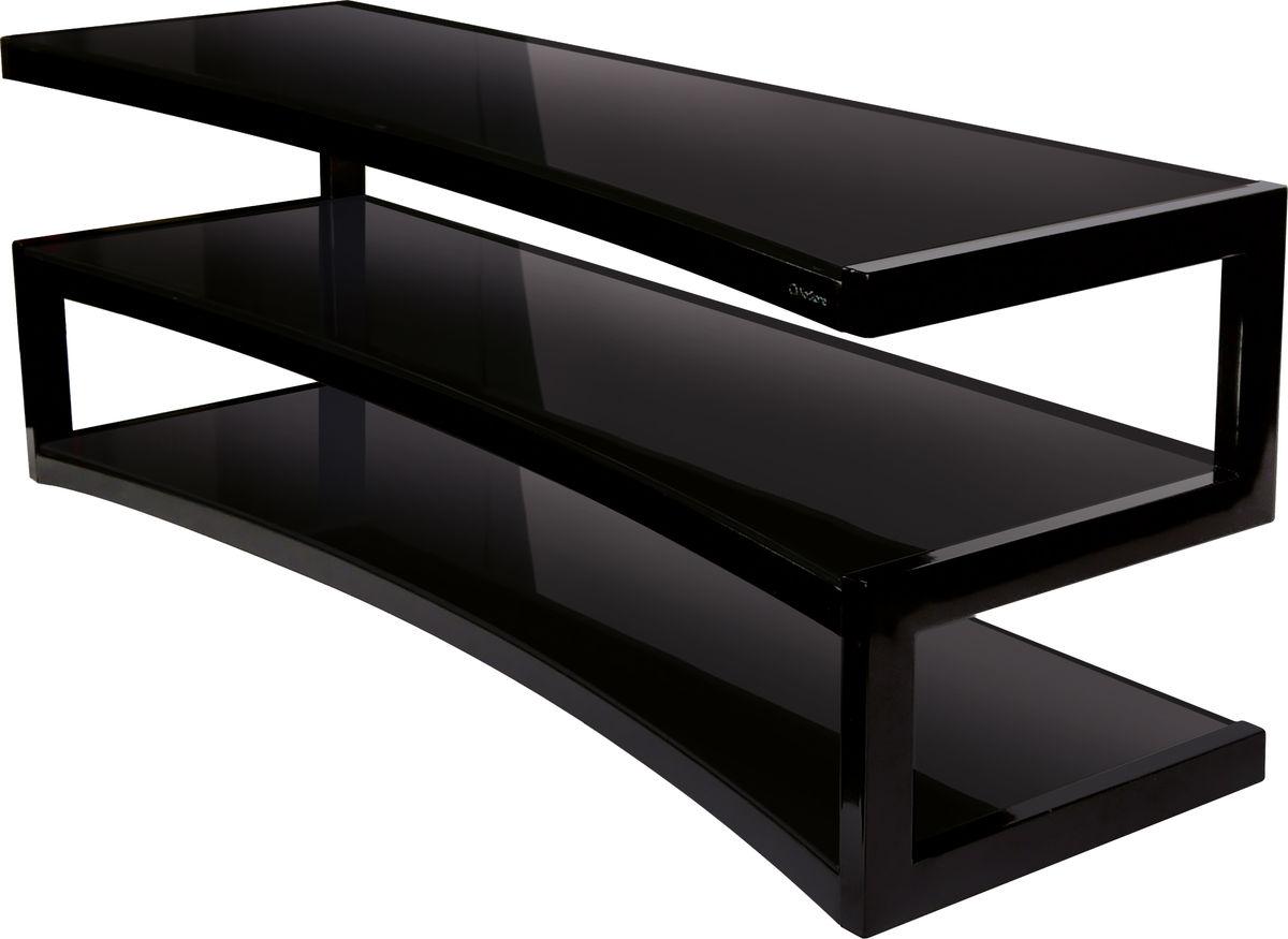 Meuble Tv Avec Barre De Son esse curve noir verres noirs