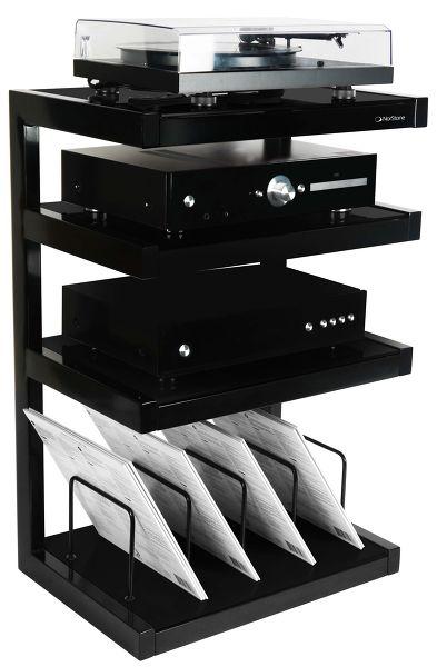 norstone esse hifi vinyl black mobile porta elettroniche hifi cd amp dac girad ebay. Black Bedroom Furniture Sets. Home Design Ideas