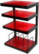 NorStone Esse hi-fi Vinyl noir verres rouges