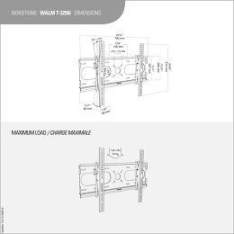 NorStone Walm T3250i Vue schéma dimensions