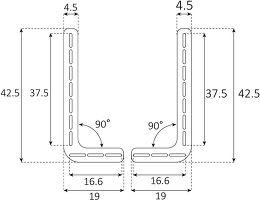 Sonorous Surefix Soundbar Vue schéma dimensions