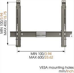 Vogel's Thin 315 Vue schéma dimensions