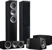 KEF R500 System Noir laqu�
