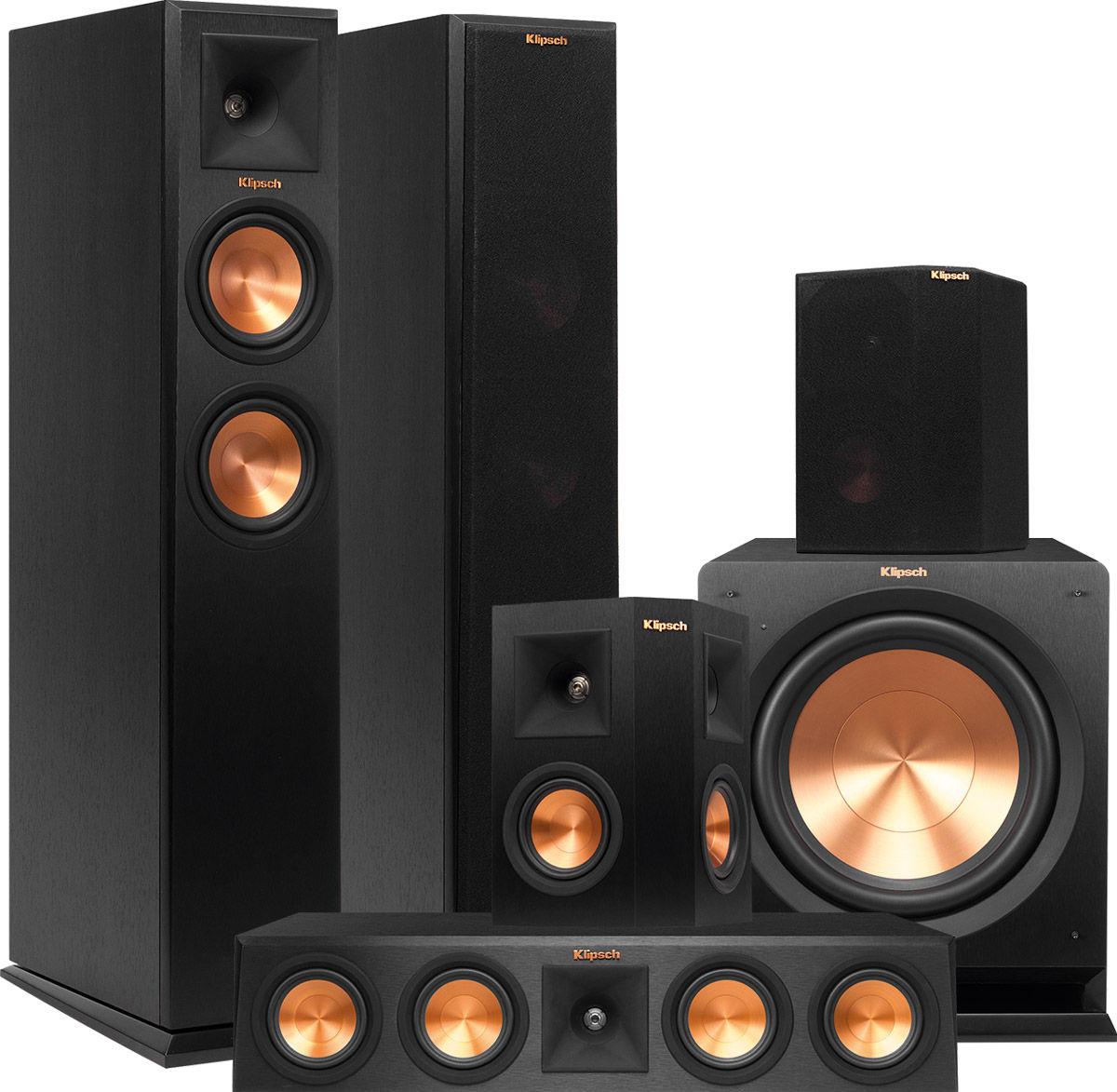 klipsch rp 250 system 5 1 packs d 39 enceintes grand. Black Bedroom Furniture Sets. Home Design Ideas