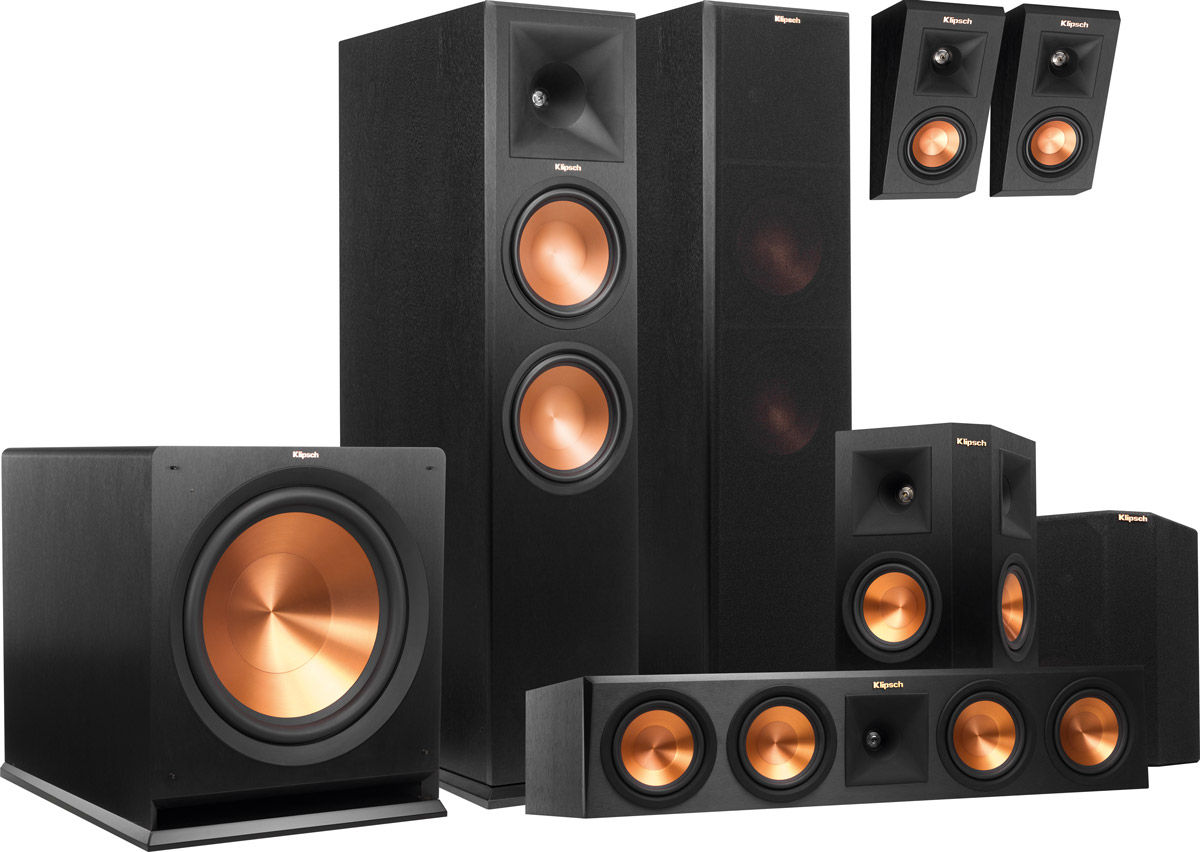 klipsch rp 280 atmos system 5 1 2 packs son vid. Black Bedroom Furniture Sets. Home Design Ideas