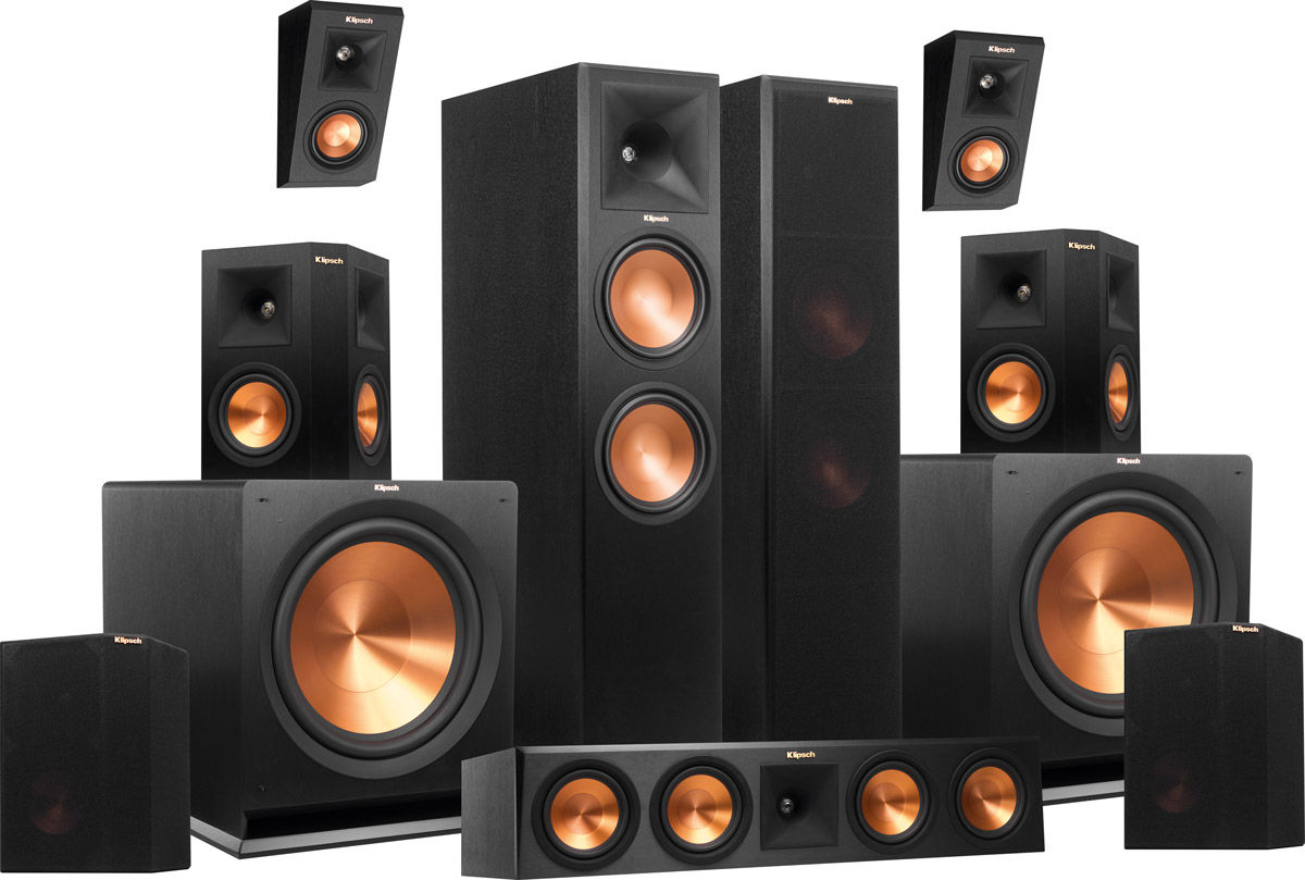 klipsch rp 280 atmos system 7 2 2 packs son vid. Black Bedroom Furniture Sets. Home Design Ideas