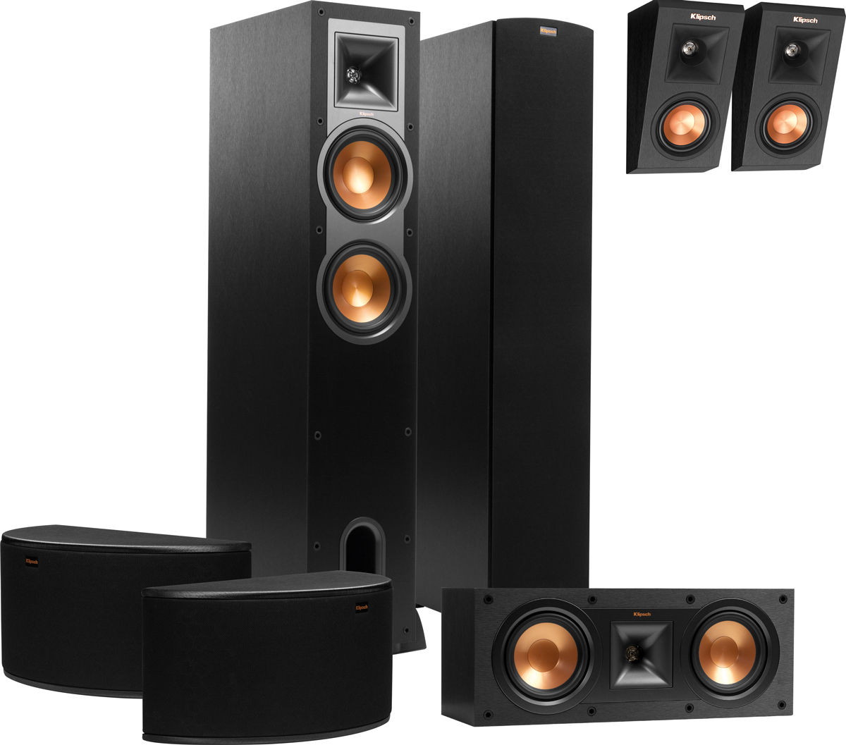 klipsch r 26f atmos system packs d 39 enceintes son vid. Black Bedroom Furniture Sets. Home Design Ideas