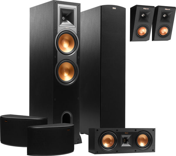 klipsch r 28f atmos system packs d 39 enceintes son vid. Black Bedroom Furniture Sets. Home Design Ideas
