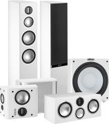 Monitor Audio Gold 300 Pack 5.1 Blanc laqué