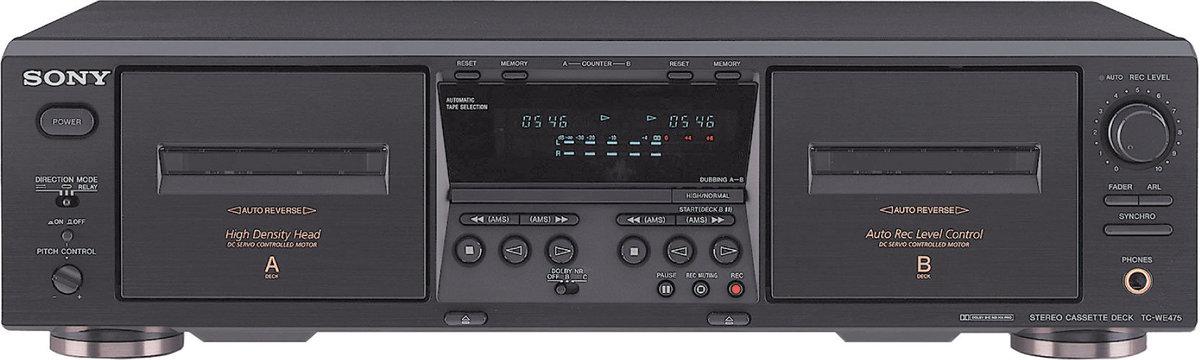 sony tc we475 platines cassette son vid. Black Bedroom Furniture Sets. Home Design Ideas