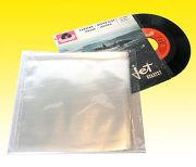PG Plastique Lot de 50 pochettes extérieures pour 45T