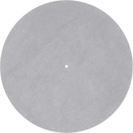 Couvre plateau cuir gris