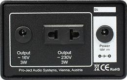 Pro-Ject Speed Box DS Vue arrière