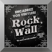 Rock on wall Cadre Argent