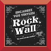 Rock on wall Cadre Rouge