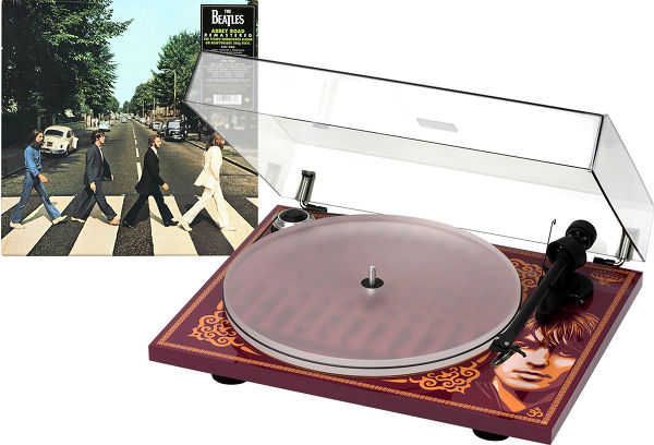 Pro-Ject Essential III George Harrison + The Beatles Abbey Road Vue principale