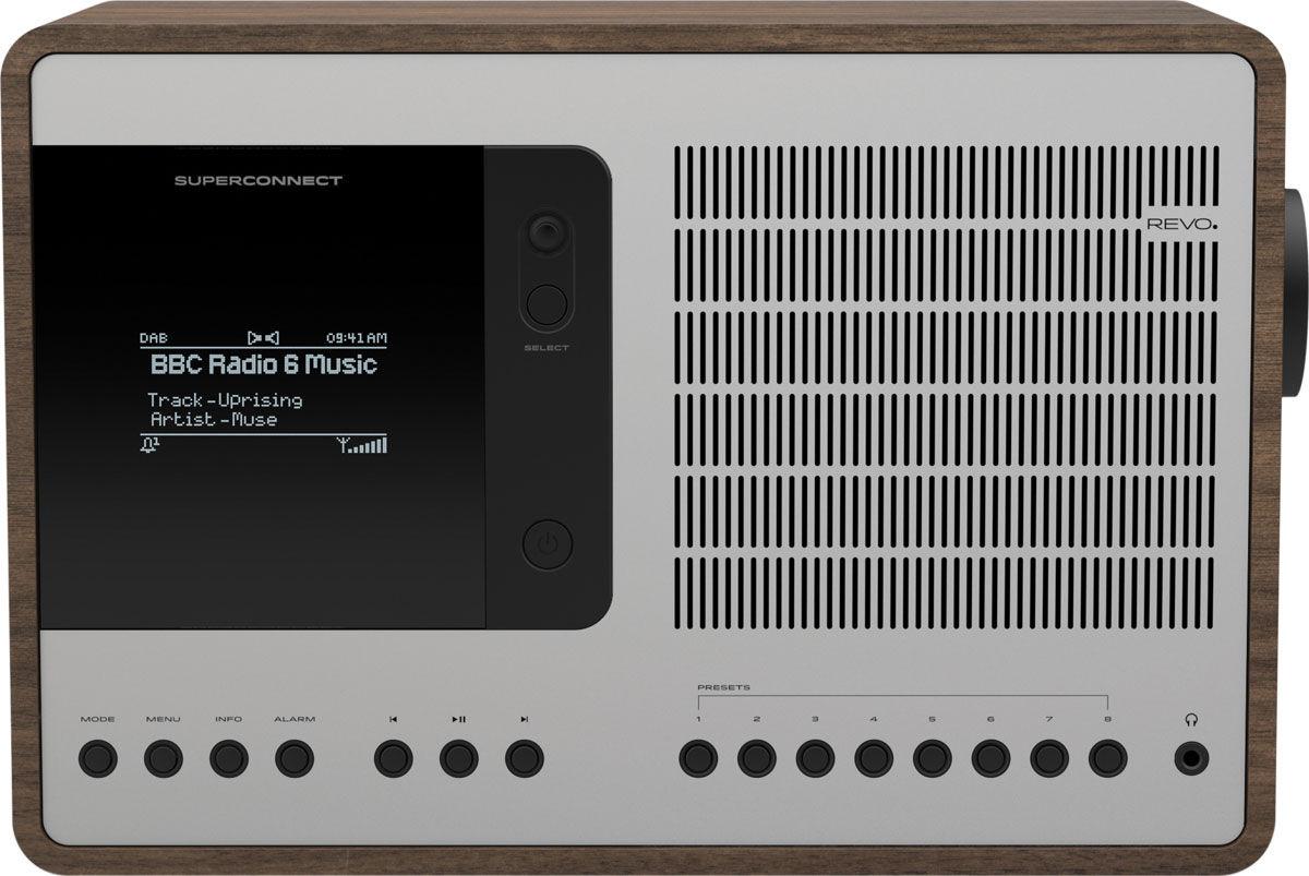 Radios Internet Revo SuperConnect Noyer/Alu