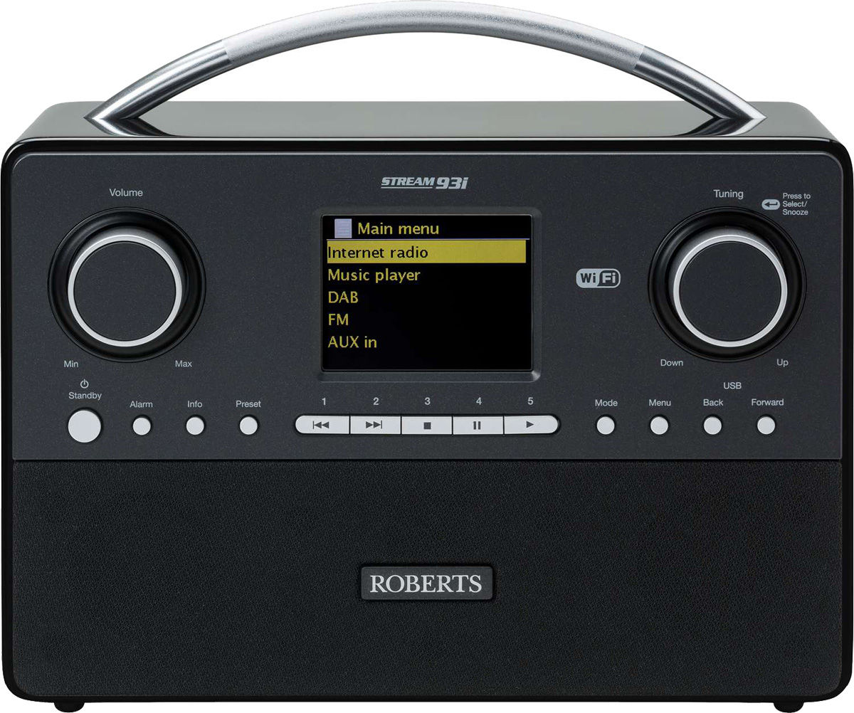 Radios Internet Roberts Stream93i Noir