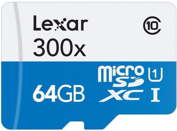 Lexar MicroSD Class 10 64 Go Vue principale