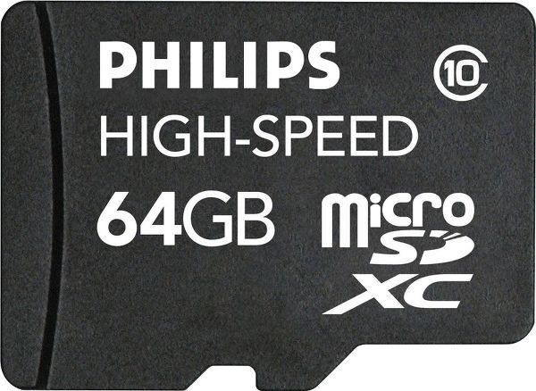 Philips MicroSDHC Class 10 64 Go Vue principale
