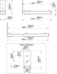 B-Tech BT15 Vue schéma dimensions