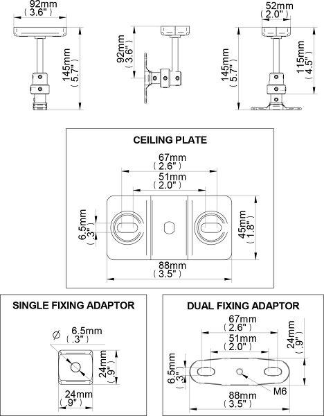 B-Tech BT34 dimensions
