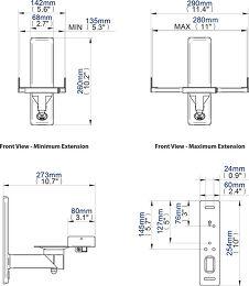 B-Tech BT77 Vue schéma dimensions