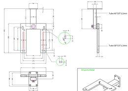 Eltax Monitor Wall Bracket Vue schéma dimensions