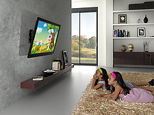 Meubles et supports son vid - Support tv avec tablette ...