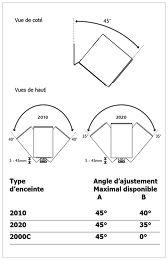 Q Acoustics Q2000WB Vue schéma dimensions