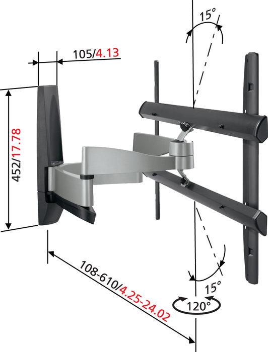 vogel 39 s efw 6445 supports tv son vid. Black Bedroom Furniture Sets. Home Design Ideas